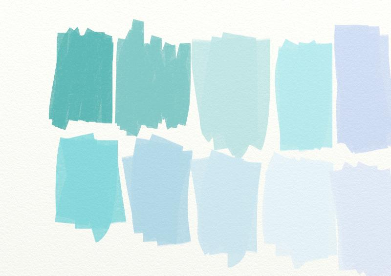 country living blue color swatches | paperplayday's blog