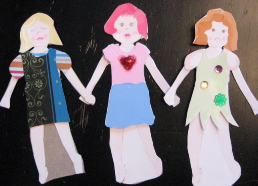 Do-it-yourself paper doll, full color print