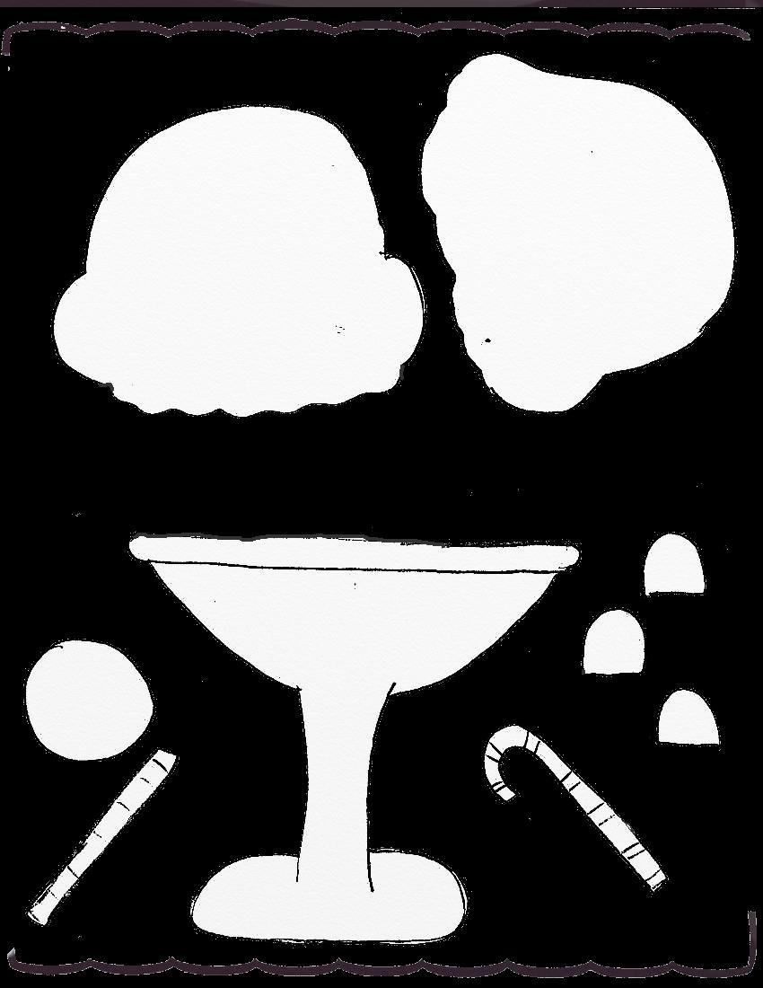Ice Cream ArtRage Stencils Scrapbook Templates Etc